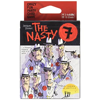Drei Hassen Nasty 7 Family Card Game: Toys & Games