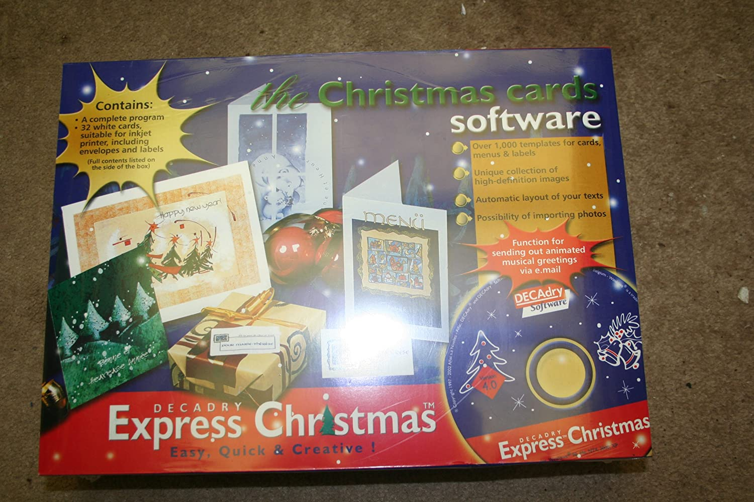 Decadry Express Christmas - The Christmas Cards Software: Amazon ...