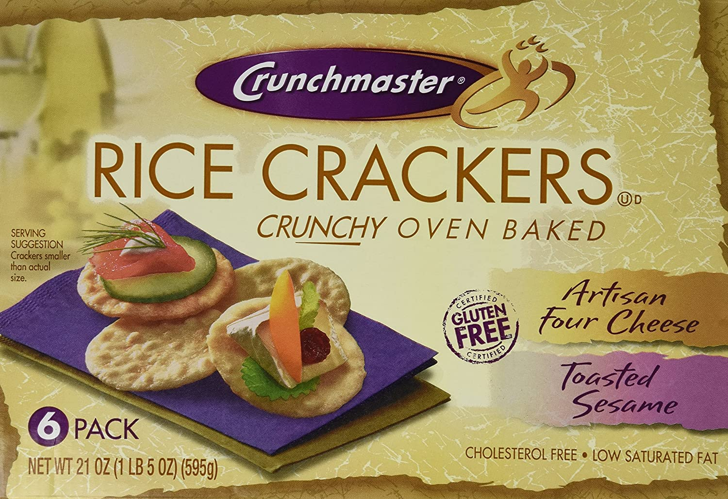 Crunchmaster Oven Baked Rice Crackeres, 21 Ounce, 2 Pack