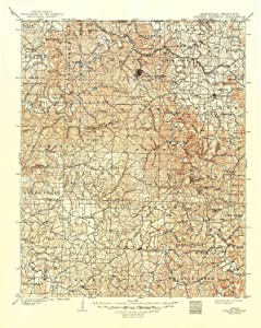 YellowMaps Eureka Springs AR topo map, 1:125000 Scale, 30 X 30 Minute, Historical, 1901, Updated 1949, 20.7 x 16.5 in