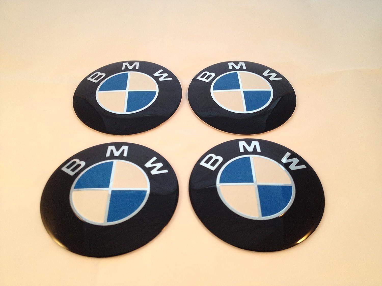 BMW 64mm Emblème Centre de roue Cap Stickers Logo badge Enjoliveurs Lot de 4