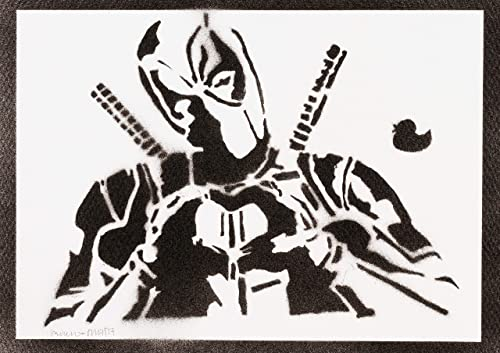 Todo para el streamer: Poster Deadpool Masacre Grafiti Hecho a Mano - Handmade Street Art - Artwork