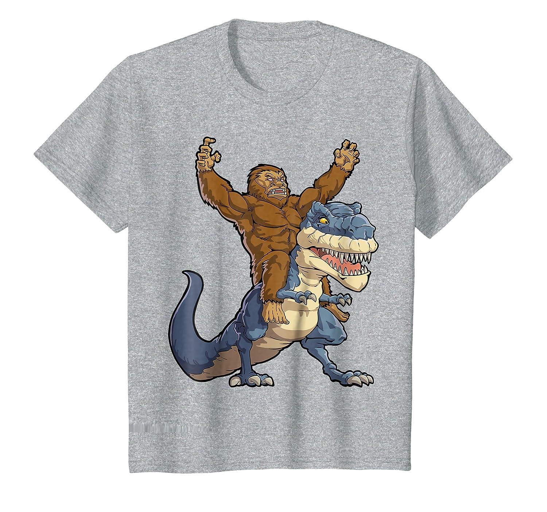 e9d32a839 Bigfoot Sasquatch Riding Dinosaur T rex T shirt Funny Gifts Lique Bigfoot  larger image