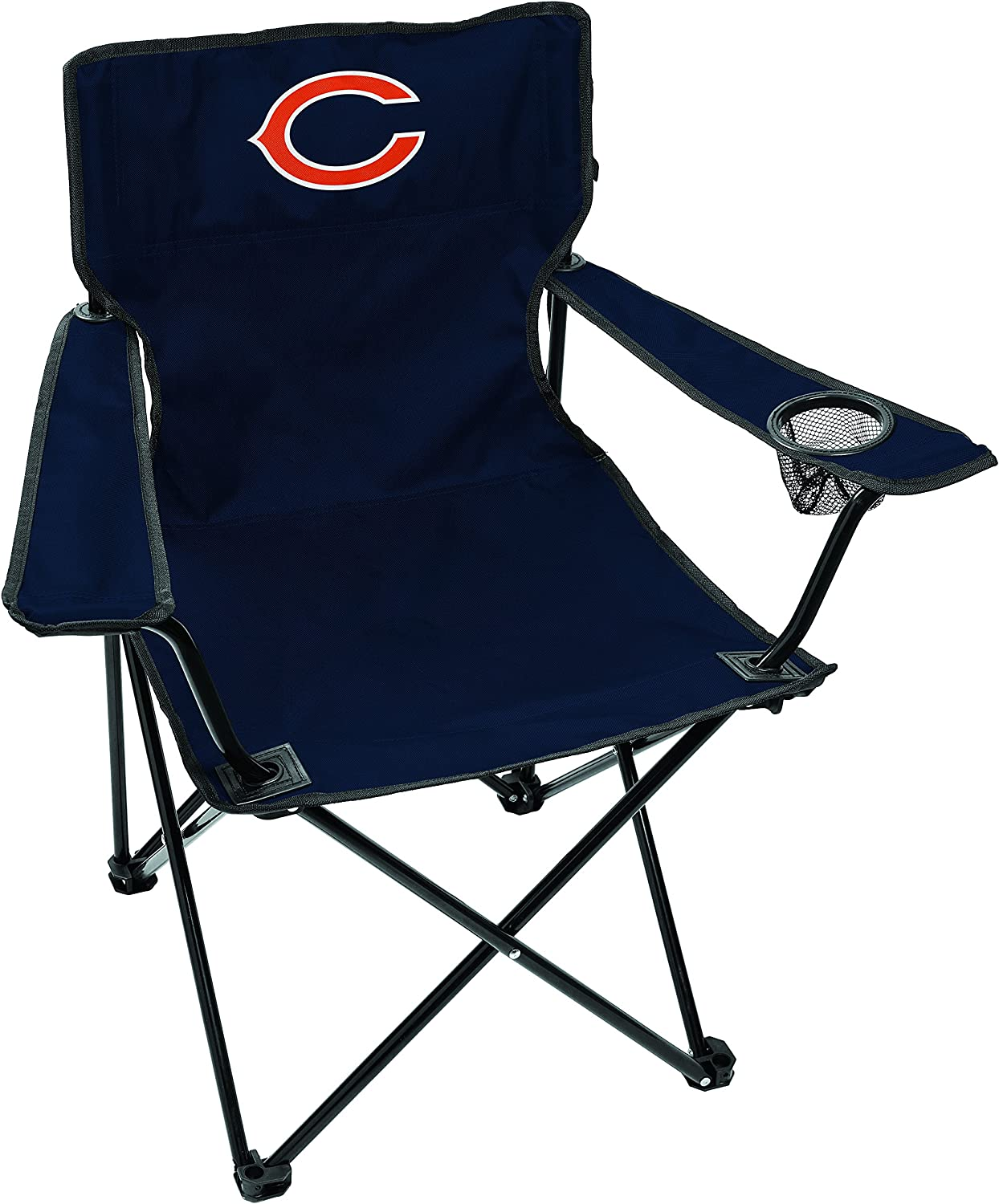 Rawlings NFL Gameday Elite Lightweight Folding Tailgating Chair, with Carrying Case (ALL TEAM OPTIONS)