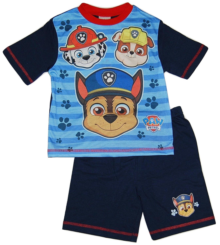 e921cf22354 Paw Patrol Boys Short Summer Pyjamas Blue: Amazon.co.uk: Clothing