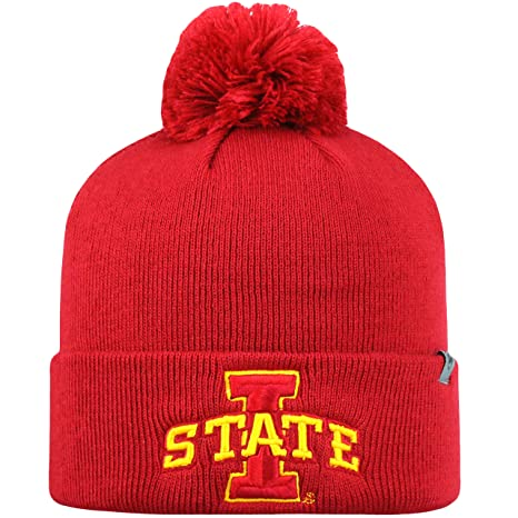 2fd4e4c1873 Image Unavailable. Image not available for. Color  Top of the World Youth Iowa  State Cyclones Beanie Knit Pom Beanie Hat