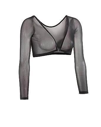 42fdcb14de32e4 Sleevey Wonders Women s Basic 3 4 Length Slip-on Mesh Sleeves XS Black