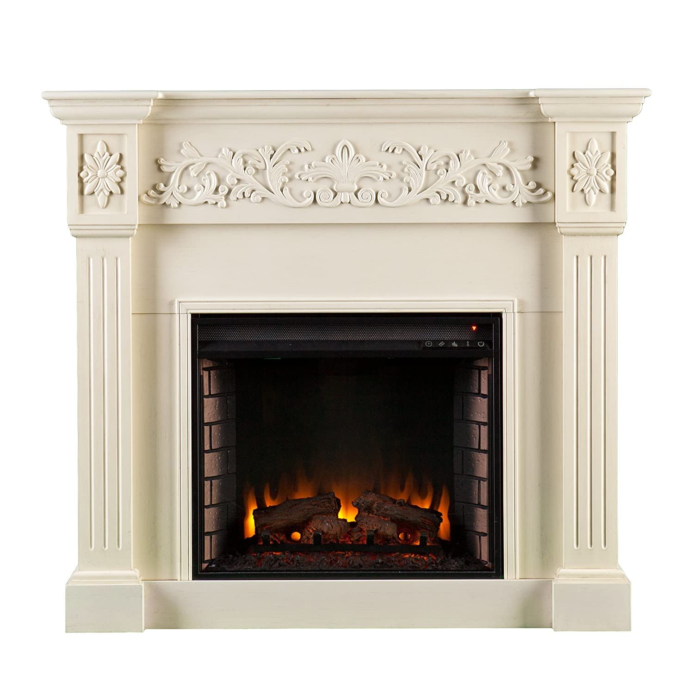 amazon com sei calvert electric fireplace ivory kitchen u0026 dining