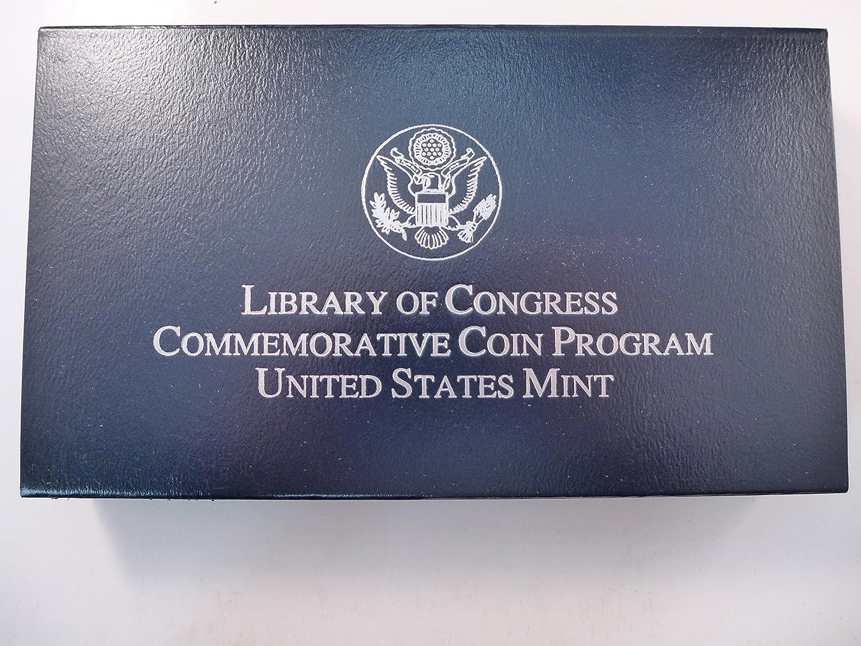 2000 US Mint Library of Congress Unc Silver Dollar w// Box /& Cert.