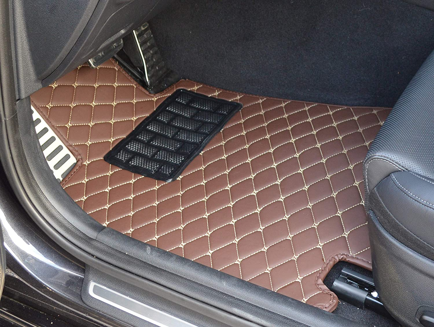 Made in USA Front and Rear Custom Fit Black Single Layer All Weather Full Coverage Heavy Duty Floor Mat Floor Protection for 2019 2020 Acura RDX SUV