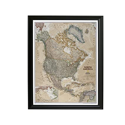 Amazon executive north america push pin travel map with black executive north america push pin travel map with black frame and pins gumiabroncs Image collections