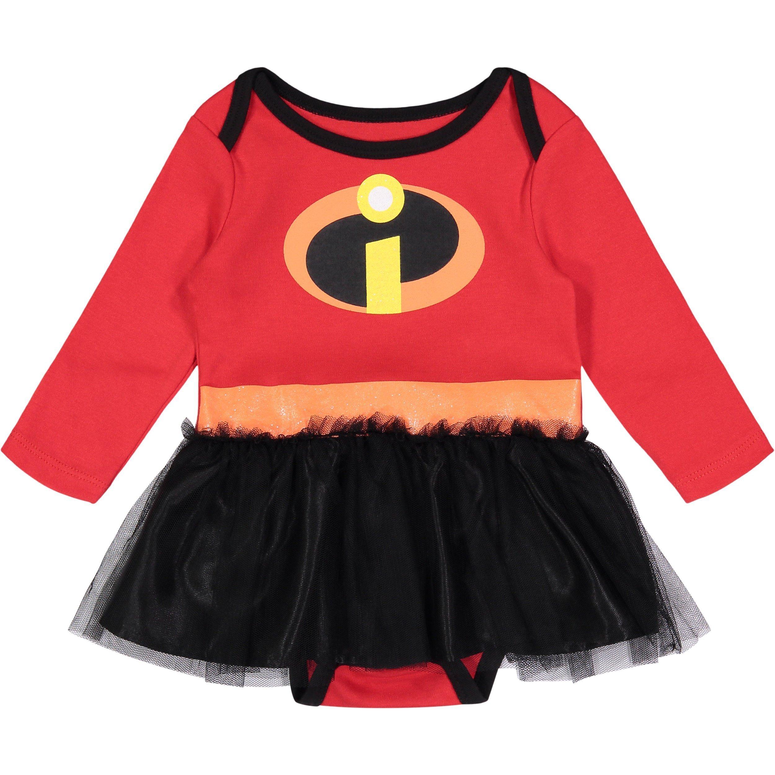 Disney Pixar The Incredibles Newborn Baby Girls' Costume Bodysuit Dress, 6-9M