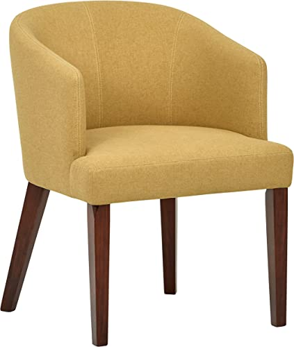 Amazon Brand Rivet Alfred Mid-Century Modern Wide Curved Back Accent Kitchen Dining Room Chair