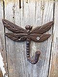 Nice Rustic DRAGONFLY Cast Iron Coat Hat Hooks Hangers