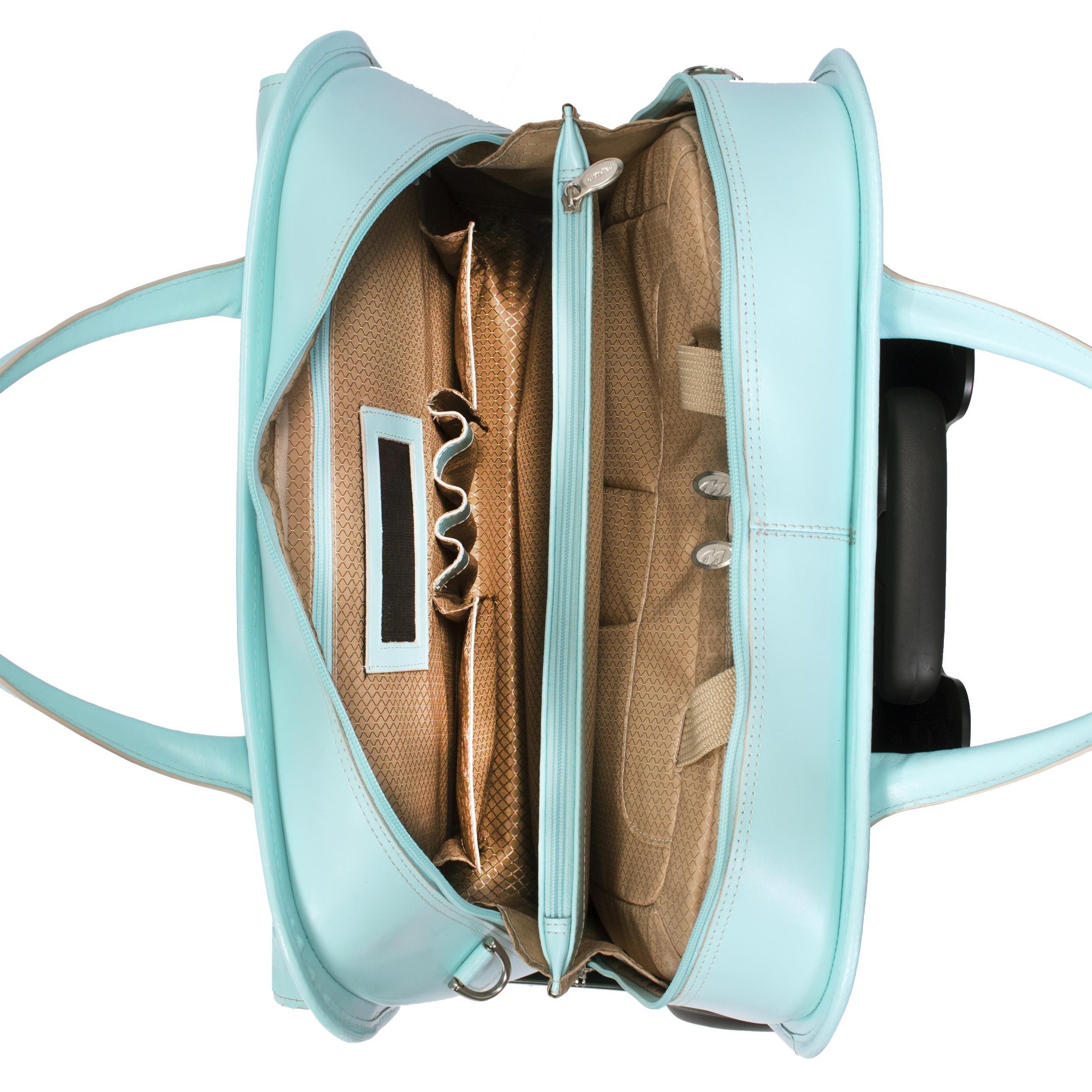 McKleinUSA LAKEWOOD 96615 Black Leather Fly-Through Checkpoint-Friendly Detachable-Wheeled Ladies' Briefcase by McKleinUSA (Image #7)
