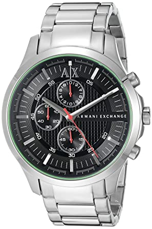 6ae783a5147 Buy Armani Exchange Hampton Analog Black Dial Men s Watch - AX2163 Online  at Low Prices in India - Amazon.in