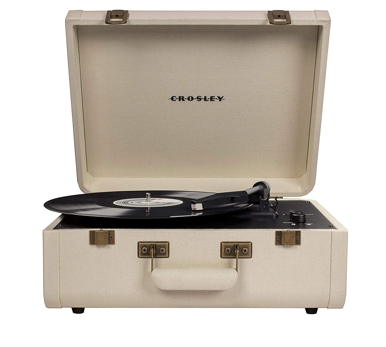 Crosley Portfolio Vintage 2-Speed Bluetooth Suitcase ...