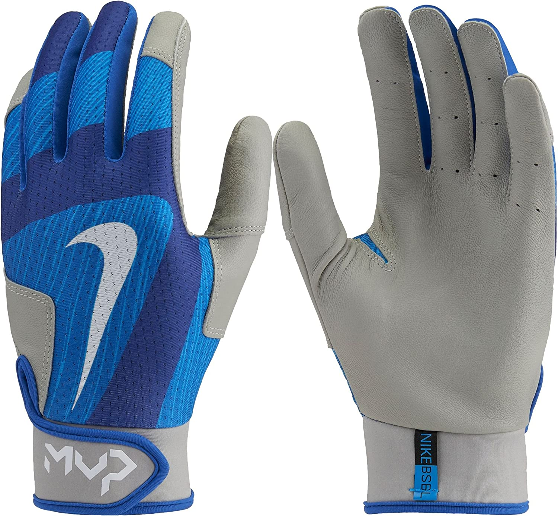 Nike Batting Gloves Orange: Nike MVP Edge Baseball Batting Glove Black/Wolf Grey Size