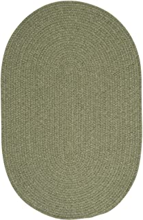 product image for Colonial Mills Charleston Wool-blend Textured Solid Reversible Braided Rug (3' x 5') Palm
