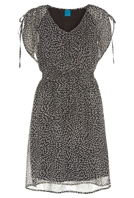 Cool Code, Kleid, Schwarz-Weiß Muster, Damen