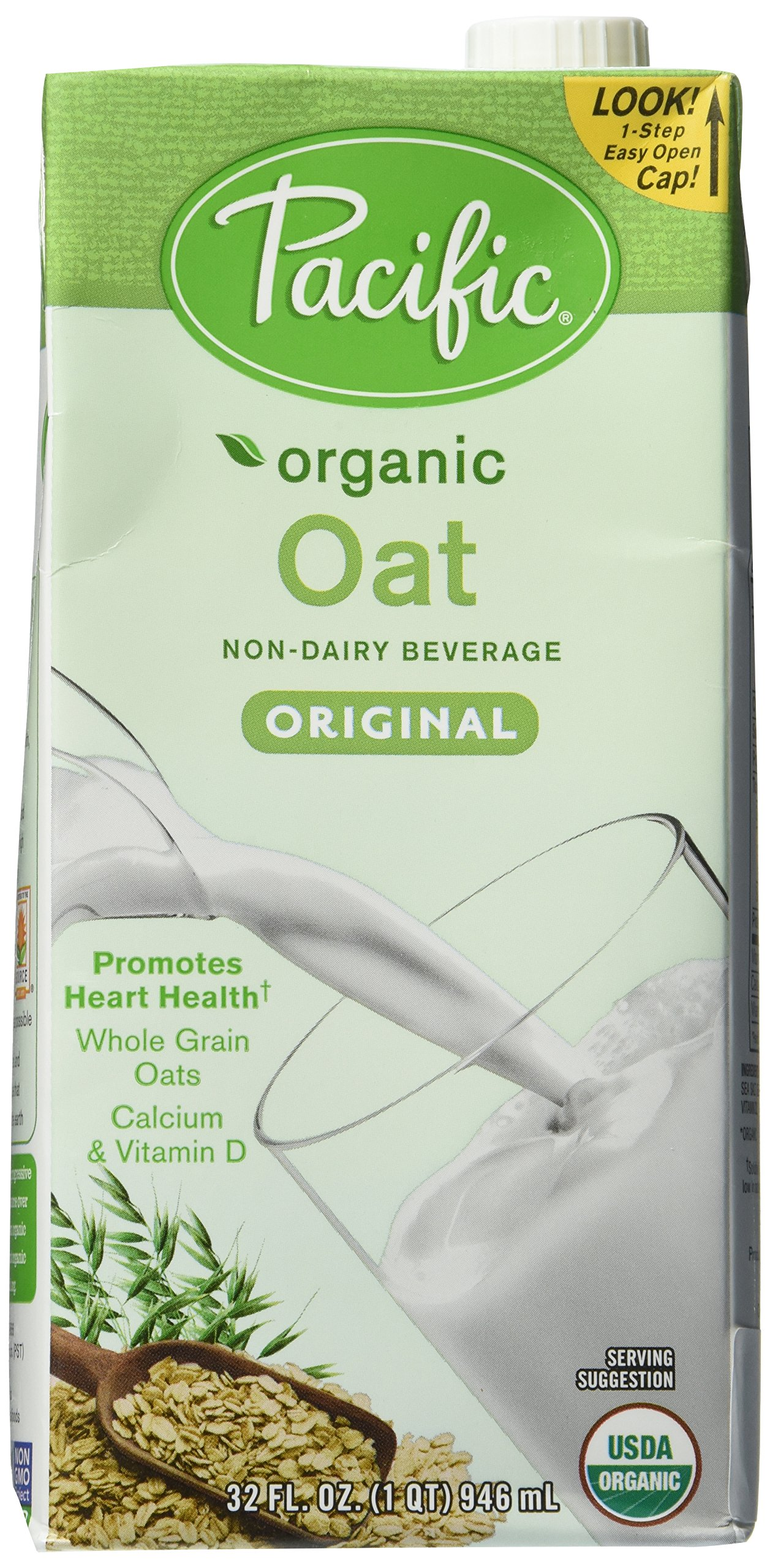 Pacific Natural Foods Organic Oat Beverage, Original, 32 Ounce Box