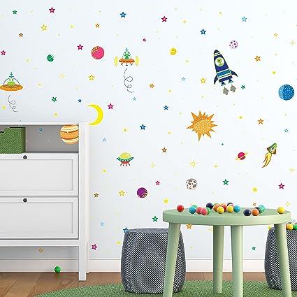 Walplus Autoadhesivo Adhesivos de Pared Cuarto de Estar para Niños y Niñas  Infantil Pared Adhesivo Decoración Hogar Vinilo Cocina Frase Mural ...