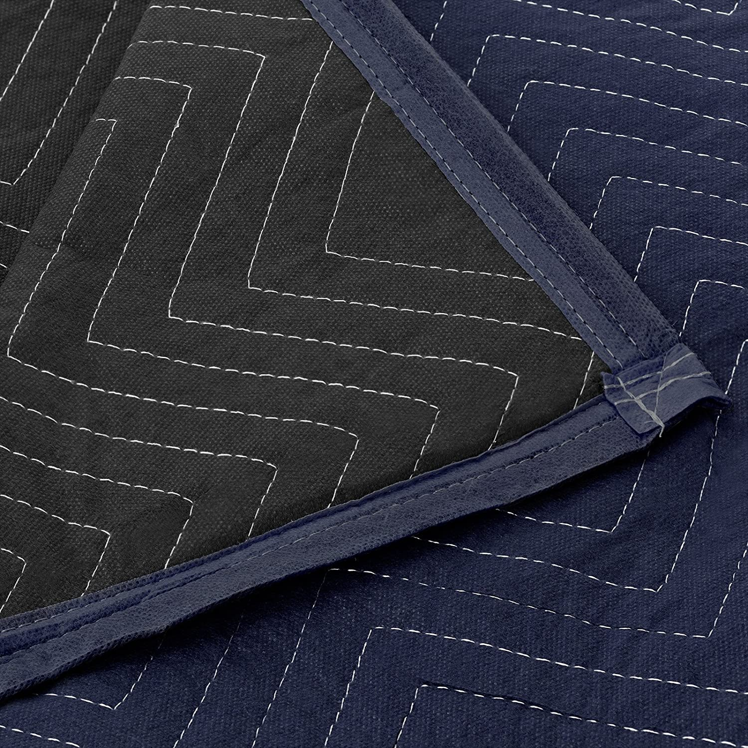 80 x 72 - Professional Quilted Shipping Furniture Pads Navy Blue and Black Sure-Max 8 Moving /& Packing Blankets 35 lb//dz Weight Pro Economy