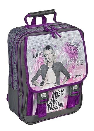 Disney Violetta grande Mochila Escolar de 3 piezas estuche relleno, Lluvia/funda de seguridad viae8330: Amazon.es: Equipaje