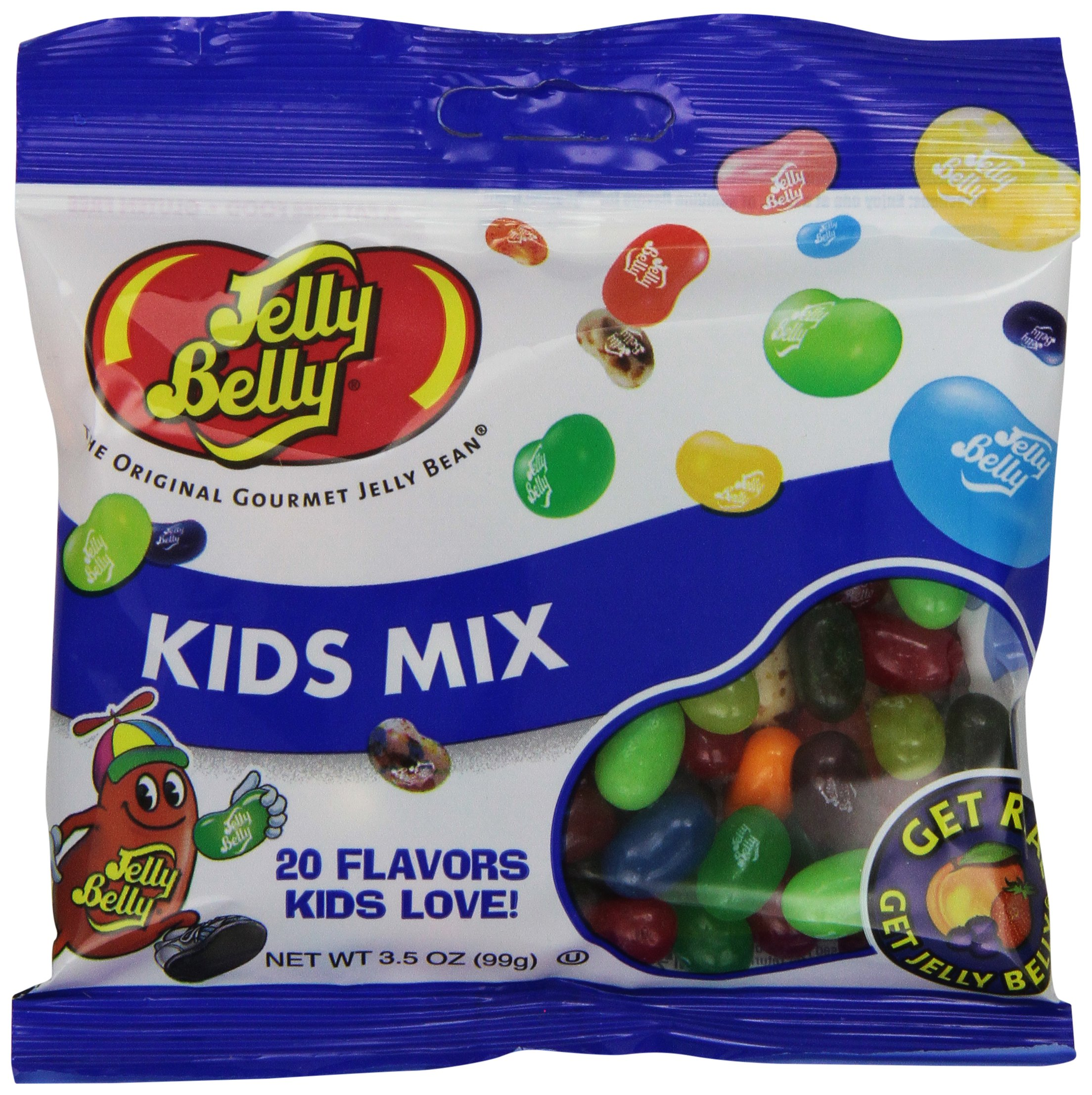 Jelly Belly Kids Mix Jelly Beans, 20 Kid-Friendly Flavors, 3.5-oz, 12 Pack