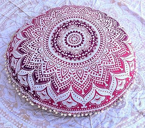 Jaipur Ombre Mandala - Cojines decorativos para el suelo ...