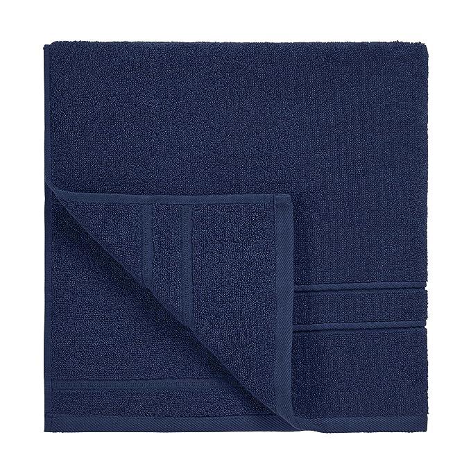 DECOLICIOUS - Juego de 2 Toallas de Ducha 100% Algodón Peinado - 550gr/m2 - Azul - 100x150 cm: Amazon.es: Hogar