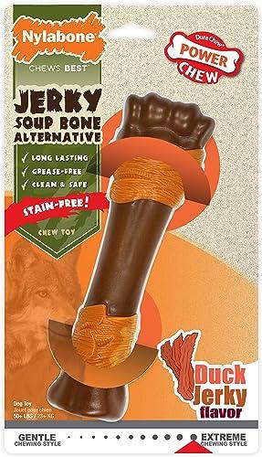 Nylabone Power Chew Alternative Soup Bone Duck Jerky Flavor X-Large Souper - 50 lbs, Model NJW105P