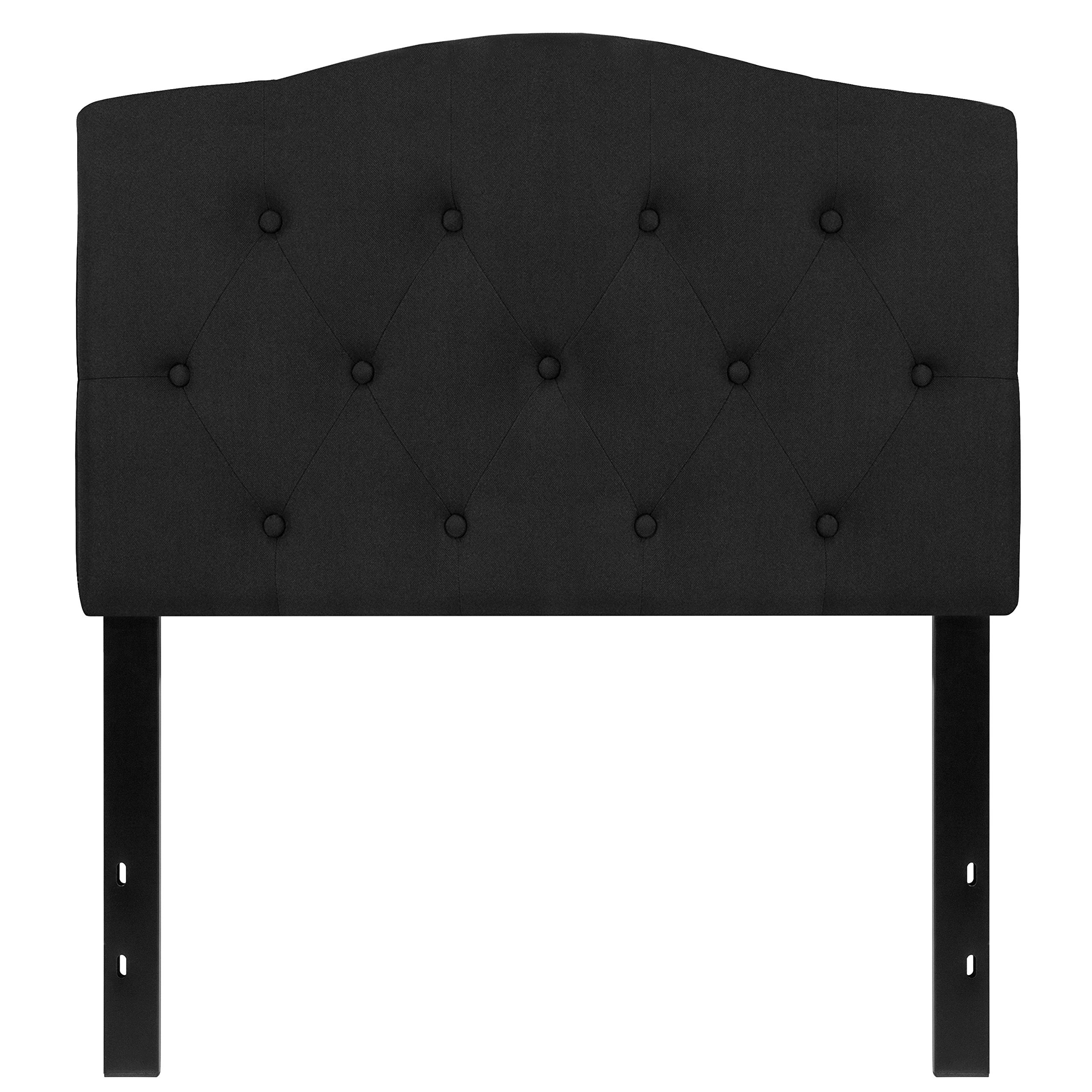 Flash Furniture Cambridge Tufted Upholstered Twin Size Headboard in Black Fabric