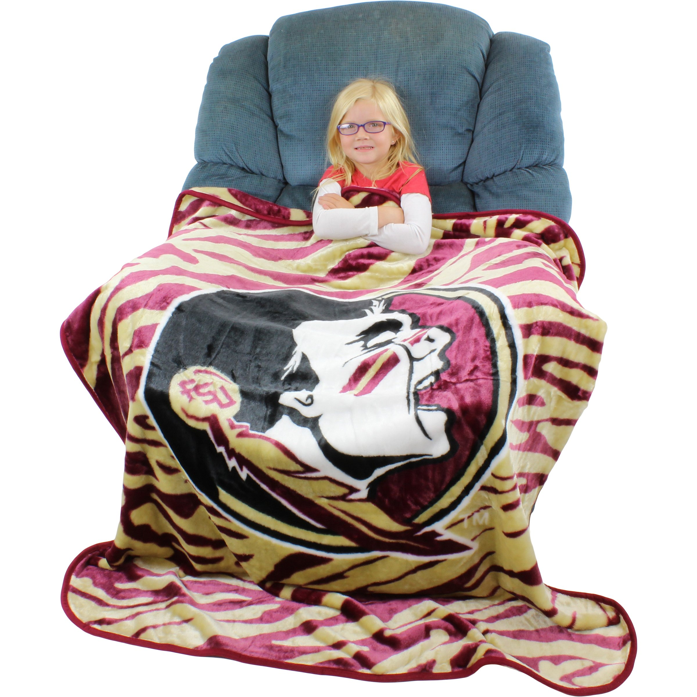 College Covers Florida State Seminoles Super Soft Raschel Throw Blanket, 50'' x 60''