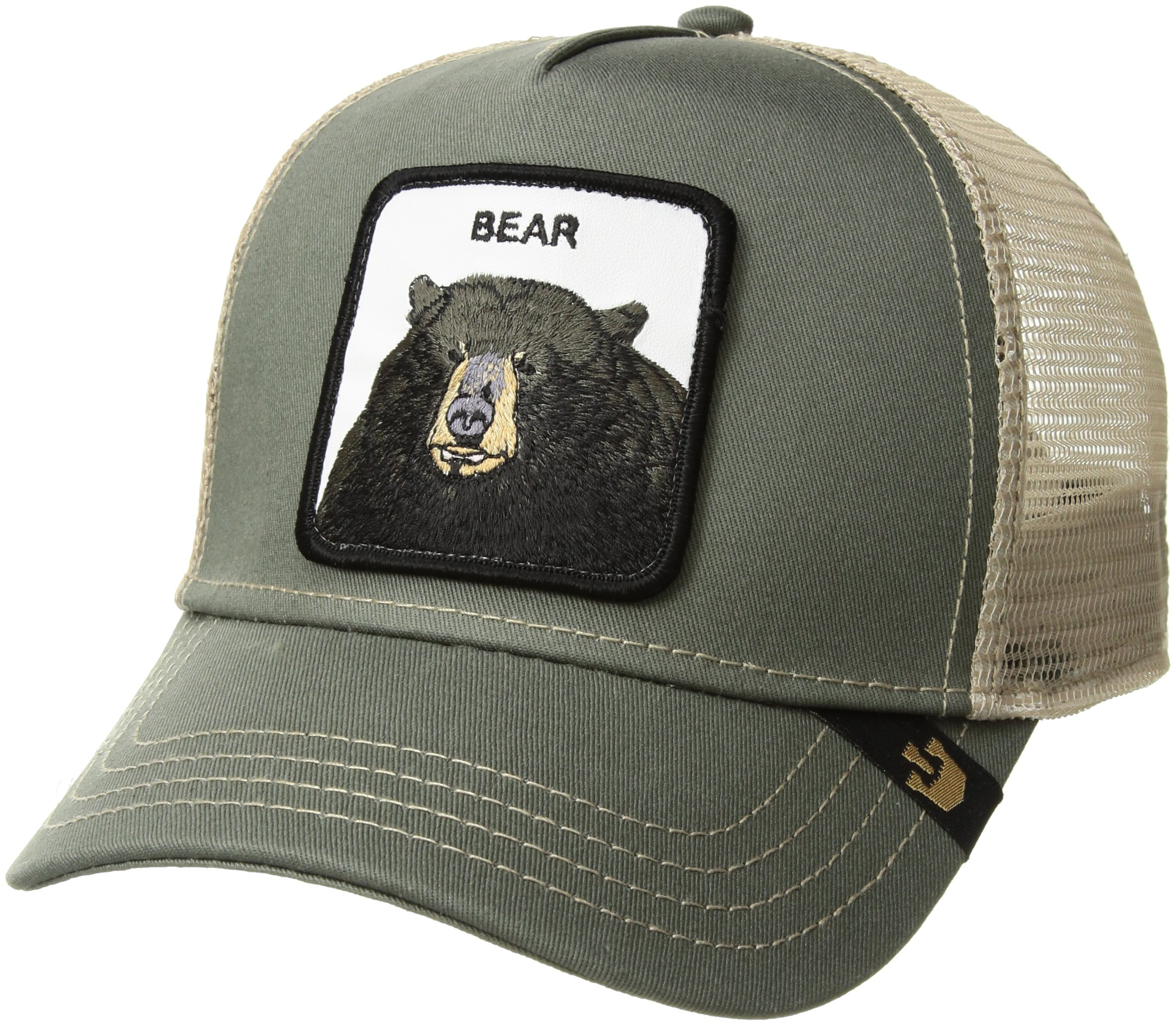 Goorin Bros. Men's Drew Bear Animal Farm Trucker Cap, Olive, One Size
