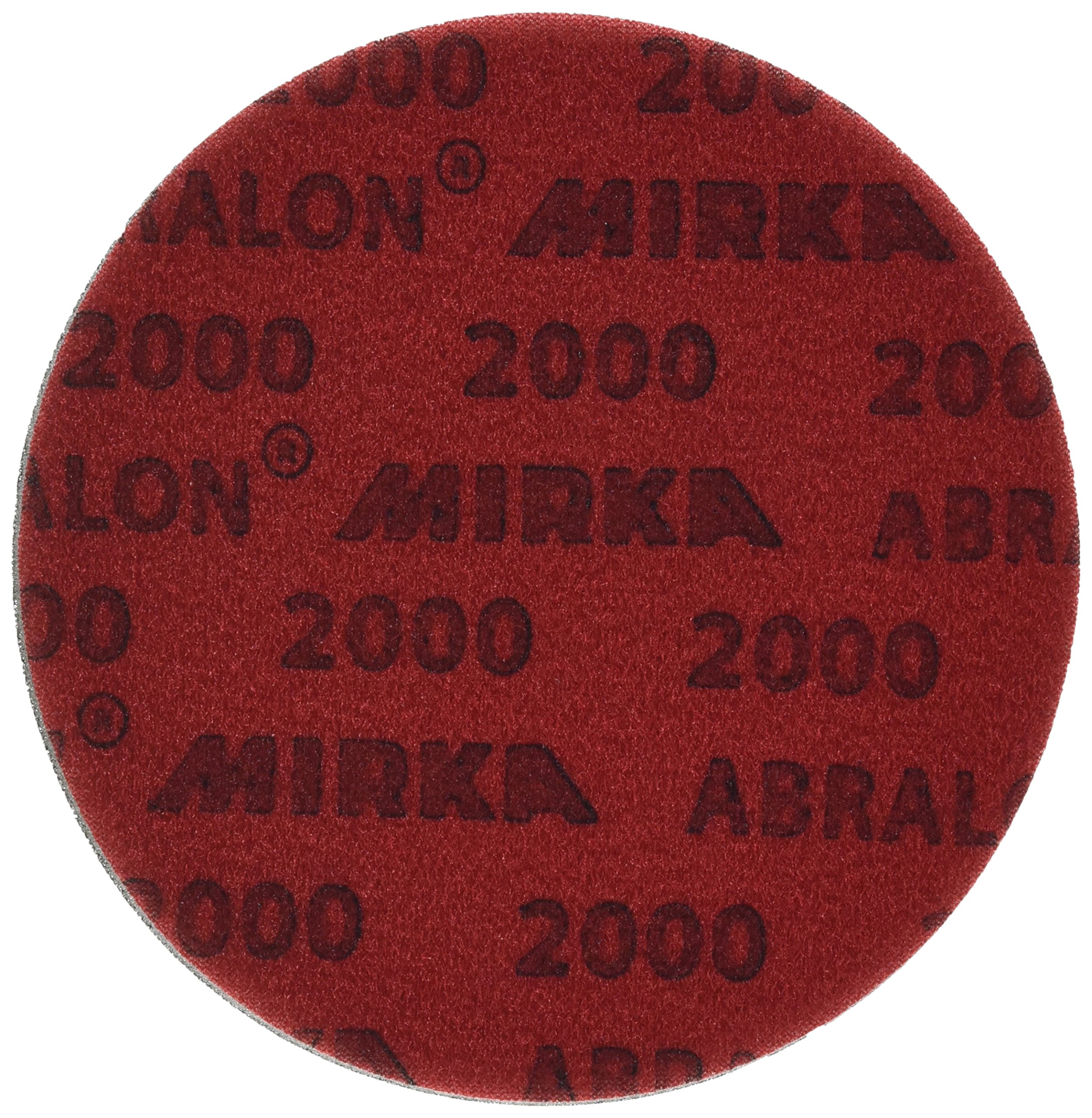 Mirka 8A-241-2000 Abralon 2000 Grit Foam Backed Velcro Hook Polishing & Buffing Discs, 6 Inch, 20 Discs by Mirka