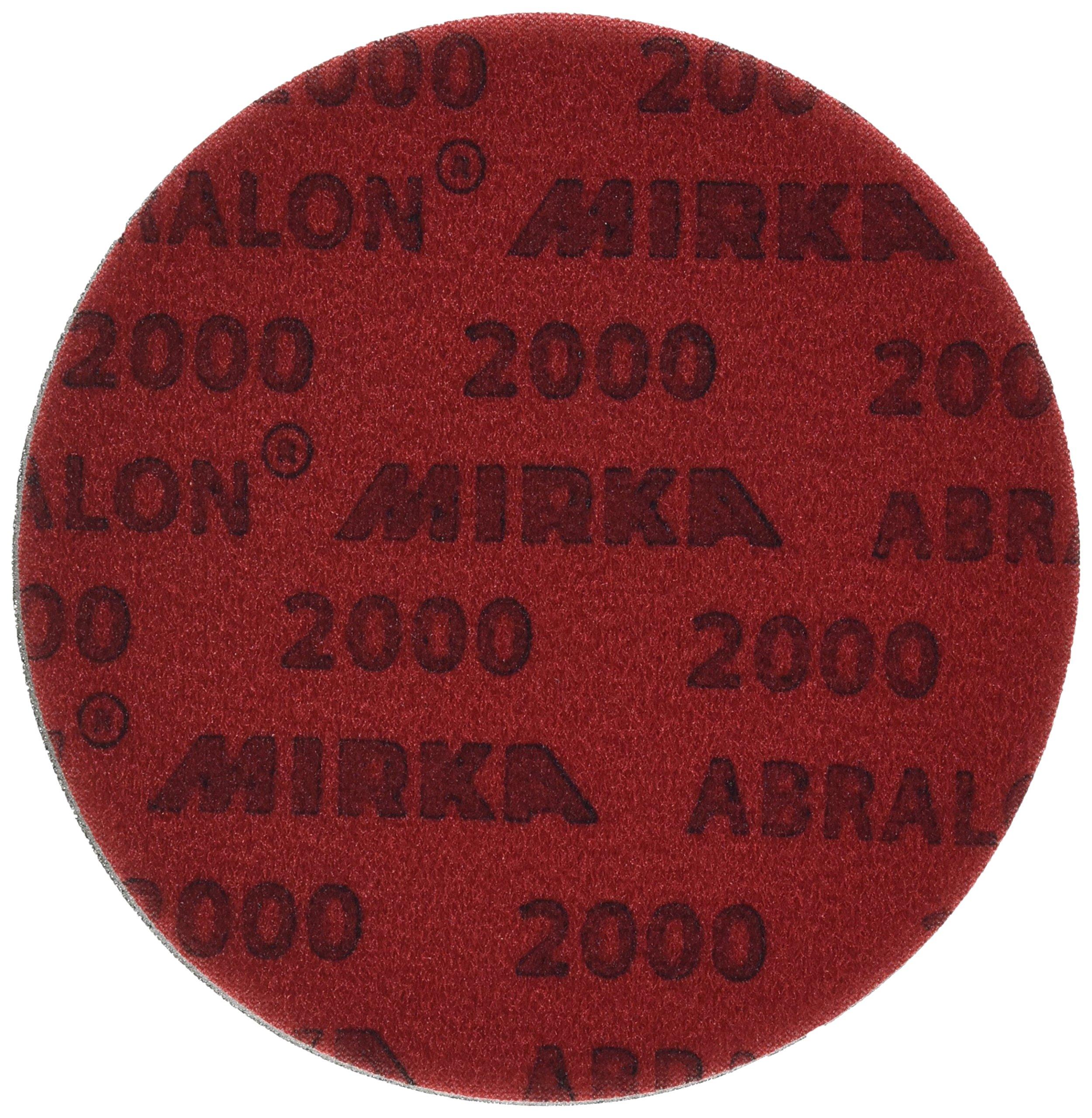 Mirka 8A-241-2000 Abralon 2000 Grit Foam Backed Velcro Hook Polishing & Buffing Discs, 6 Inch, 20 Discs