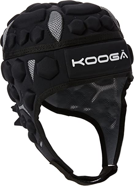 KOOGA MENS ESSENTIAL RUGBY HEADGUARD BLACK LARGE+XL