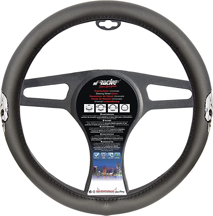 Camouflage 32W Steering Wheel Cover Simoni Racing CVT White