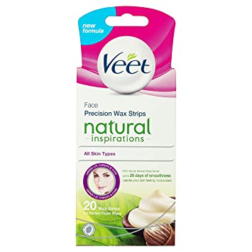Amazon Com Veet Face Precision Wax Strips Pack Of 20 Beauty
