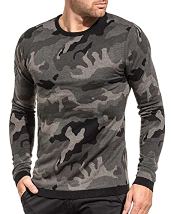 Pullover Camouflage Army Noir Couleur Noir 74 Homme Deeluxe qxAIBwa56
