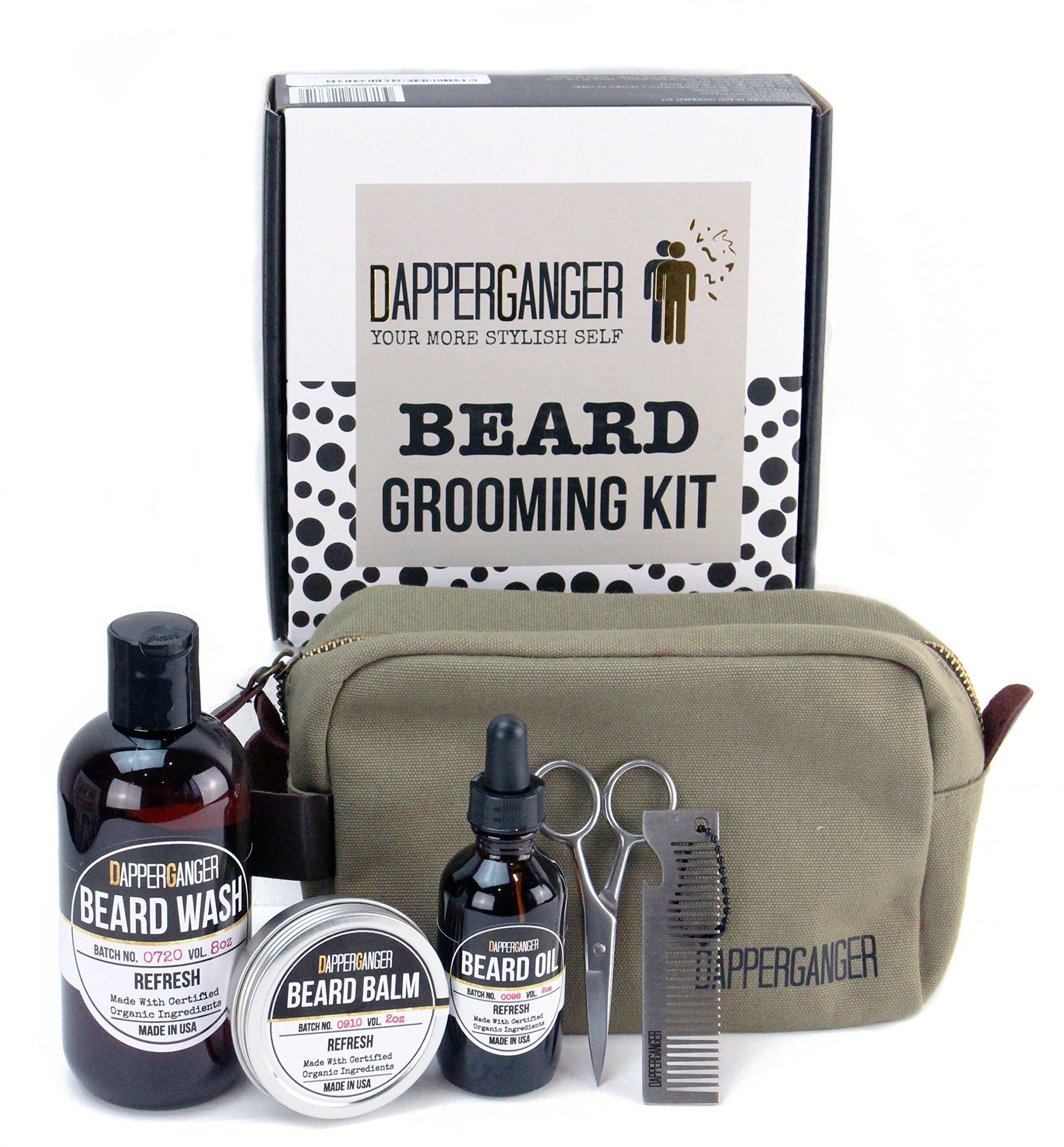 Beard Kit - Ultimate Mens Grooming Kit- Premium Beard Care Kit & Beard Grooming Kit Best Gift for Men - Great Smelling Gift Set- Eliminates Dandruff & Split Ends - Make Your Beard Look Boss