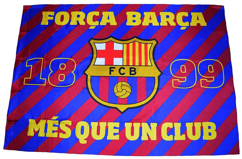 Fútbol Club Barcelona - Bandera del F.C. Barcelona con el escudo y el lema « Més que un club» - Dimensiones  140 x 100 cm. - Diseño oficial del F.C. ... 66021f9310b