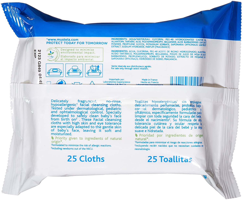 Amazon.com: Mustela Toallitas de limpieza, toallitas para ...
