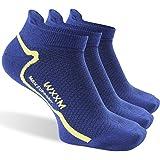 WXXM Athletic Merino Wool Cycling Socks, Unisex Anti-blister Light Breathable Thin No Show Liner Socks