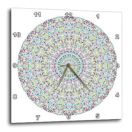9a6ab035e7b9f Amazon.com: 3dRose David Zydd - Kaleidoscope Mandalas - Colorful Triangle  Mandala Disc - Abstract Geometry in Boho Style - 13x13 Wall Clock  (DPP_300454_2): ...