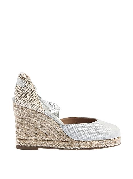 Sienna cuña cáñamo Lazos, Alpargatas para Mujer, Platino, 38 EU: Amazon.es: Zapatos y complementos