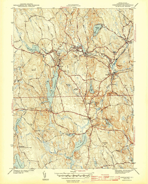 Topographic Map Rhode Island.Amazon Com Yellowmaps Chepachet Ri Topo Map 1 31680 Scale 7 5 X
