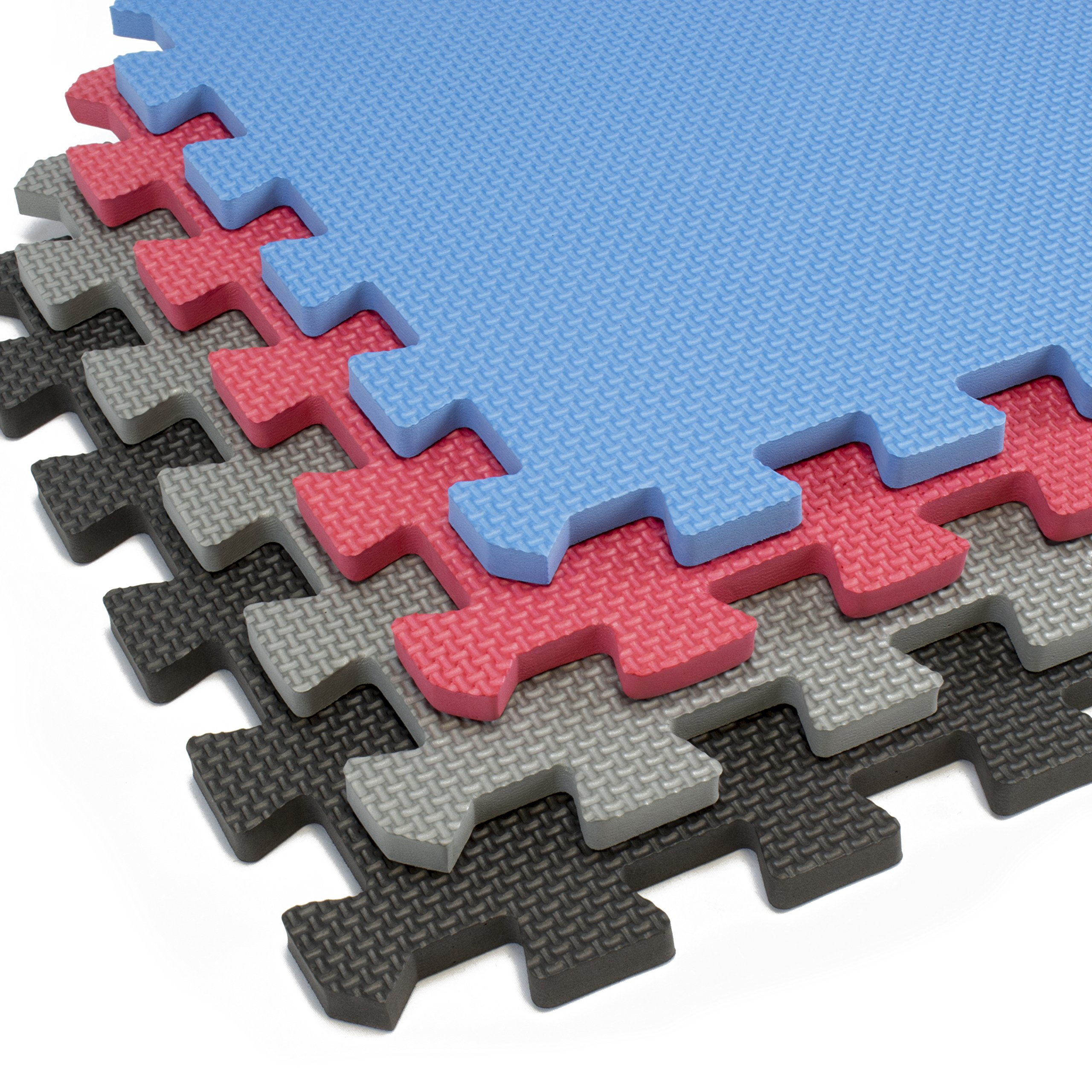 Interlocking Foam Mats With Borders | Thick EVA Exercise Flooring | Soft & Non Toxic Kids Play Tiles | Puzzle for Children & Baby Room | Yoga Squares Babies Garage Gym Fitness Board (Black) by Alpine Neighbor