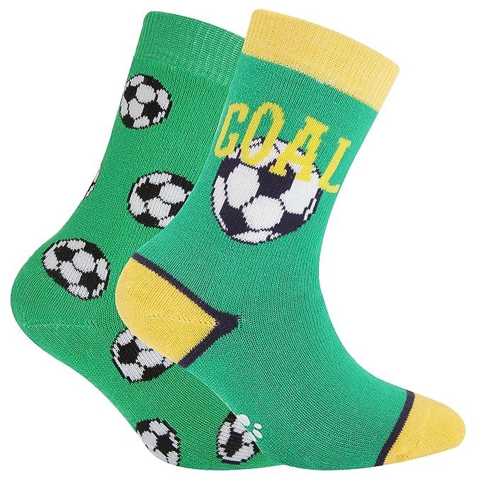 6e07f6eeae6 Severyn Calcetines térmicos antideslizantes para niños (23-26 EU Diseño  fútbol)
